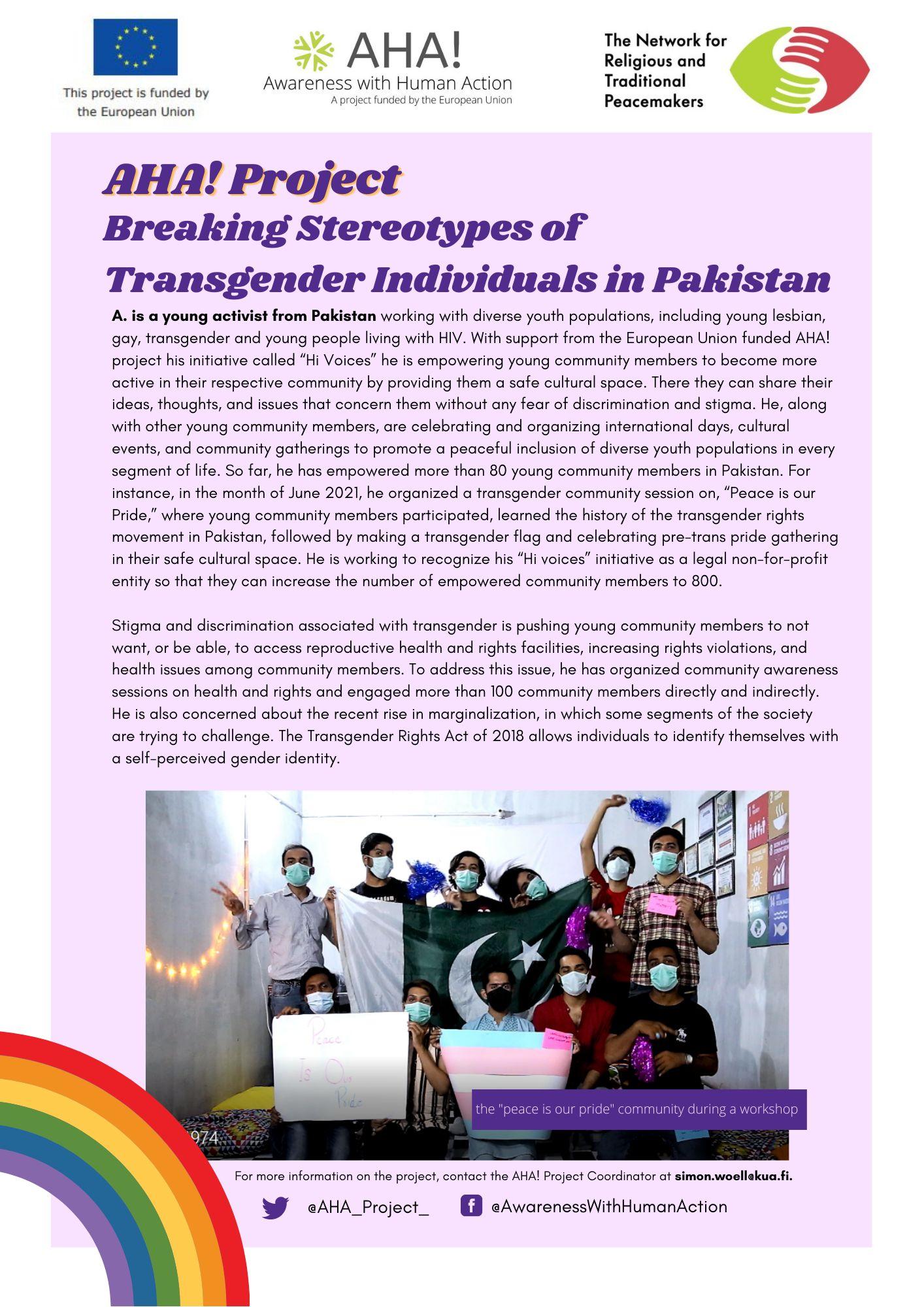 Breaking Stereotypes of Transgender Individuals in Pakistan_